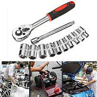 12pcs 1 / 4inch трещотка комплект гнездо аппаратного ремонта ванадий набор инструментов