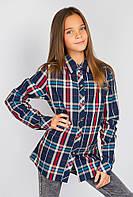 Рубашка женская стильная 438K002-1 junior (Сине-красный)