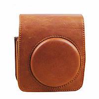 Кожаный плечевой ремень сумка коричневого пу для Fujifilm INSTAX мини 70 камеры