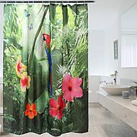 180 * 200cm 72 дюймов полиэстер душевой занавес попугай непромокаемой ткани шторы для ванной комнаты