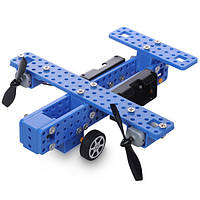 Маленький поделки модель самолета общим колеса пропеллера сборки истребитель игрушки комплект