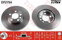 Диск тормозной передний вентилируемый TRW DF2754