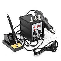 8586 2 в 1 700w Антистатический паяльник станция LED цифровая паяльная станция железа отпайки паяльная станция припоя фена сварщика