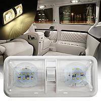 12v 48 LED 2835 СМД интерьер двойной купол потолок выключатель света для с.в. лодки кемпер прицеп