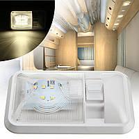 12v 24 LED интерьер одиночный потолочный купол белый свет переключатель для с.в. лодки кемпер прицеп