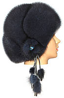 Норковая шапка на основе,Капля (ирис)