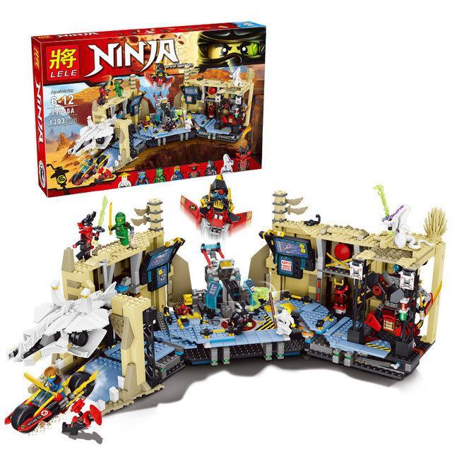 Конструктор Lele 79348 Ninja Хаос в X-пещере Самураев 1303 дет