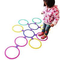 Дети на открытом воздухе прыжки кольца игры с друзьями дошкольного учебное пособие спорт игрушка прыжок классики сетки детей сенсорной ин