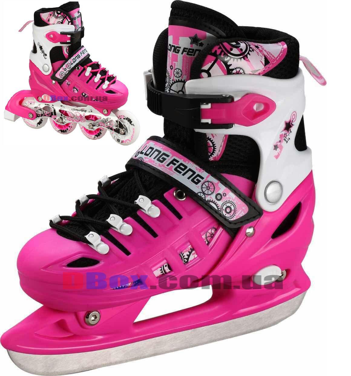 Роликовые коньки детские трансформеры Scale Sports RS - 38-42, Розовые (2T3027-RS)