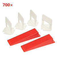 700pcs керамическая плитка плиточные доступность распорные зажимы / клинья пластиковые