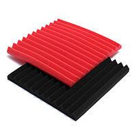300x300x25mm красный / черный акустический звукоизоляционный звук студийного поглощения пены