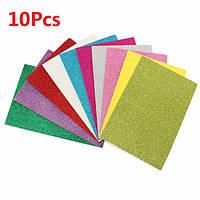 10 штук 8x12 дюймов клей блестки бумага карточки разных цветов скрапбукинга ремесла