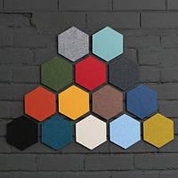 Honana DX-156 10PSC Творческий Красочный Шестигранник Шерсть Войлок Многофункциональный стикер стены Смарт сбор платы