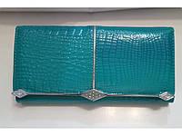 Кошелек Balisa 2 женский кожаный с монетницей внутри 18,5 см * 9 см Бирюзовый