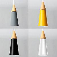 Диаметр 11см современный деревянный кулон потолок подвесной светильник люстра кухонный светильник