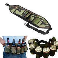 Открытый 6 пакеты портативный пива соды талии держатель камуфляж партии руки бесплатный напиток несущей конвейерной ленты