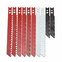 10шт пилы набор для черной и двухэтажным лобзик металлические пластмассовые деревянные лопатки