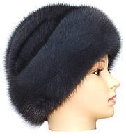 Меховая шапка норковая на основе,Киевлянка (ирис)