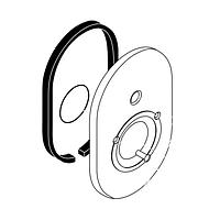 Декоративная розетка для смесителя на ванну скрытого монтажа Hansgrohe Focus(E+S)/Metris(E+S) 95011000
