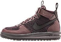 Мужские кроссовки Nike Lunar Force 1 Flyknit Workboot Найк Лунар Форс бордовые