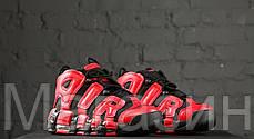 Мужские кроссовки Nike Air More Uptempo Infrared Найк Антемпо красные с черным, фото 3