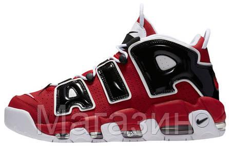 Мужские кроссовки Nike Air More Uptempo Bulls Varsity Red Найк Антемпо красные, фото 2