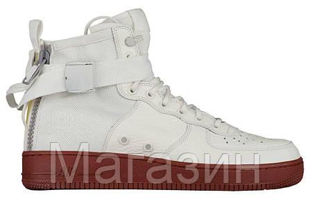 Женские высокие кроссовки Nike Special Field Air Force 1 Mid White Найк Аир  Форс белые, 9702e96feba