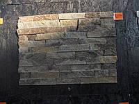 Coломка из натурального камня  сланца «Мореный дуб» 3- 6см.