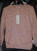 Детский теплый свитер на девочек