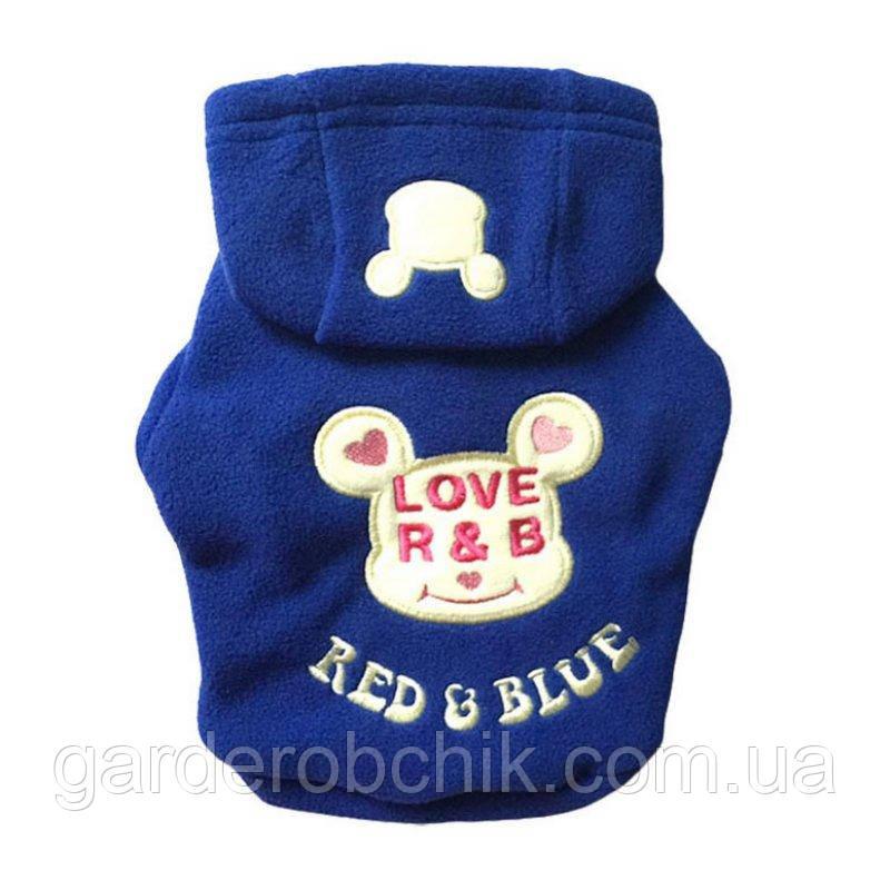 """Куртка, толстовка """"Red & Blue"""" для собаки, кошки. Одежда для собак, кошек"""
