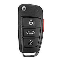 Новые 3 + 1 кнопки дистанционный брелок для ключей кейс режиссерский лезвие для Audi A6 a4 a2 A8 тт Q7