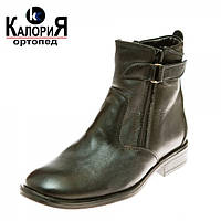 Натуральные кожанные зимние ботинки КалориЯ 02 классика