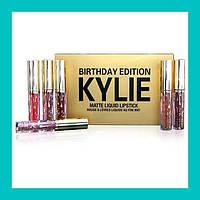Матовая жидкая помада KYLIE Birthday Edition Gold набор из 6 штук!Акция