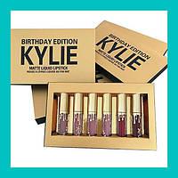 Матовая жидкая помада KYLIE Birthday Edition Gold набор из 6 штук!Опт