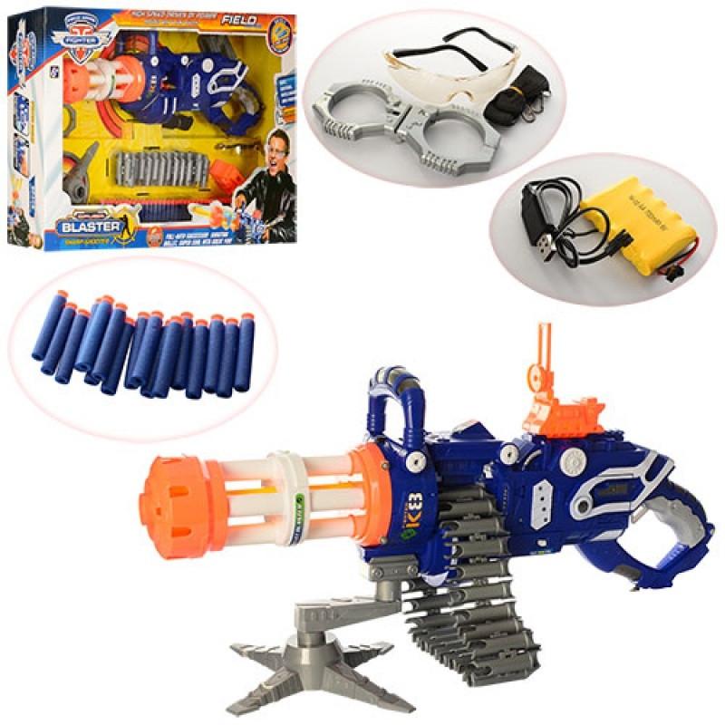 Игрушка Автомат SB298 мягкие пули, очки, наручники