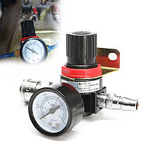 1 / 4inch помощи регулятора подачи сжатого воздуха Быстроразъемная компрессор с манометром шлангом