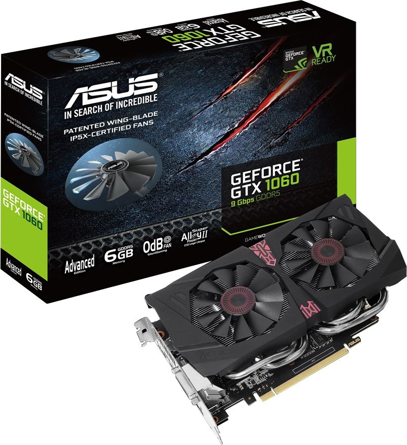 Видеокарта ASUS GTX1060-A6G-9GBPS