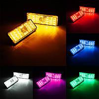 Прямоугольник рефлектор LED задний тормоз задний стоп-сигнал автомобиля мотоцикл 6-ти цветов
