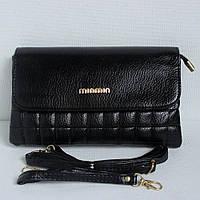 Женская черная сумочка-клатч. №1058(9006).