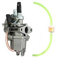 47cc 49cc карбюратор карбюратор четырехъядерный АТВ карманный велосипед бензин трубы топливный фильтр мини-мото