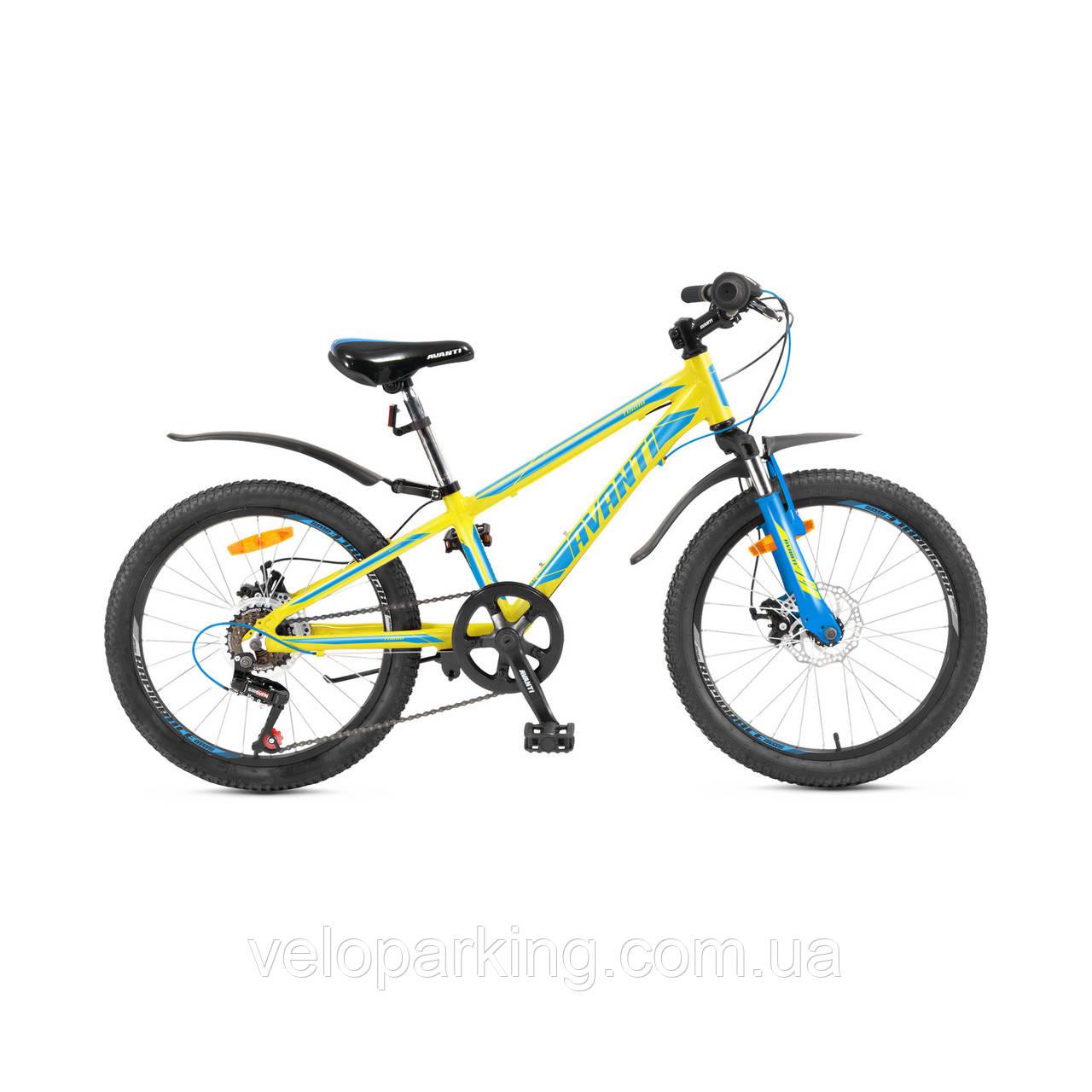 Горный спортивный детский алюминиевый велосипед Avanti Turbo 20 DD (2018) new
