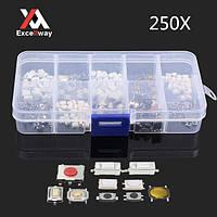 Excellway® PB01 250 штук 10 Типы Тактильная кнопочный переключатель касания радиобрелоками