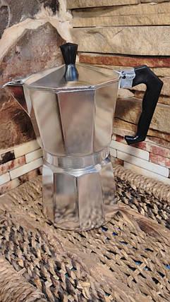 Гейзерна кавоварка А-ПЛЮС алюмінієва на чашок, фото 2