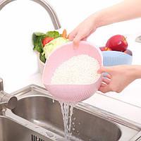 Растительного бассейна мыть риса Сито утолщение соломы пшеницы чистой риса машина вазу с фруктами корзина кухня