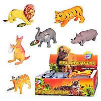 JT Животные 7215 (432шт) дикие, 6 видов, 12 шт в дисплее, 28-15-9см