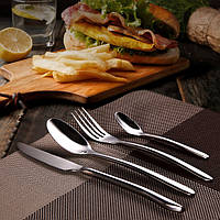 KCASA FL8 4 шт серебряные столовые принадлежности комплект из нержавеющей стали посуда посуда комплект столовых приборов нож вилка