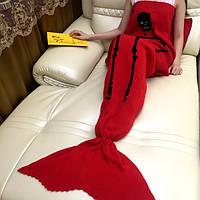 175x90cm череп вязаный хвост русалки одеяло ручной работы крючком бросить супер мягкий диван подстилке