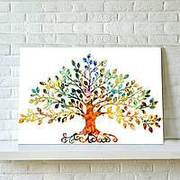 75X50см картинка абстрактные красочные лиственных деревьев неструктурированного холст печати стены искусства украшения дома
