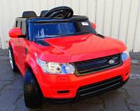 Детский электромобиль RX 112 Ренж Ровер на резиновых колёсах, 4 Амортизатора, красный, дитячий електромобіль