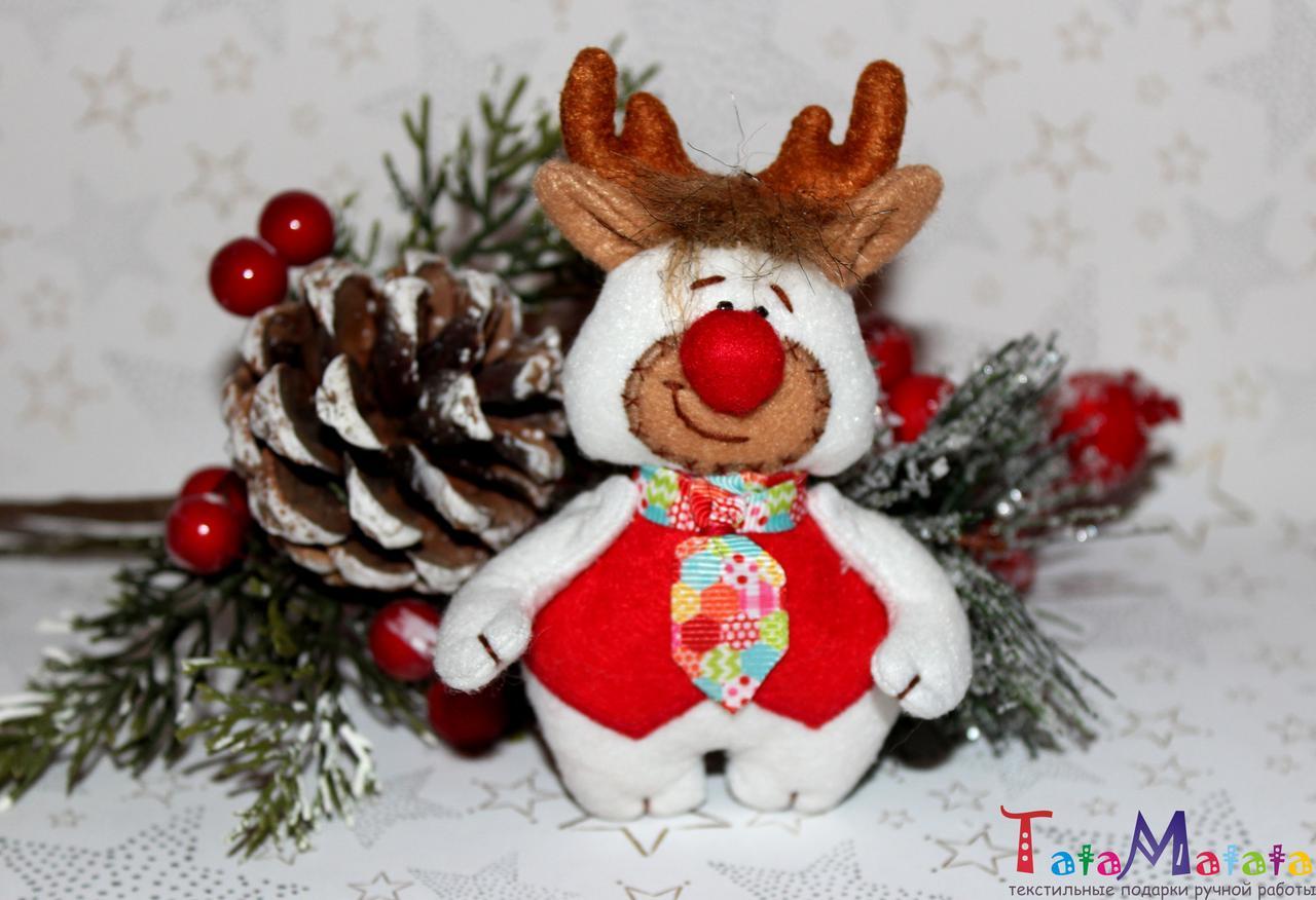 bb5681977a86 Игрушка ручной работы Новогодний декор Рождественский подарок Интерьерная  игрушка Украшение на елку